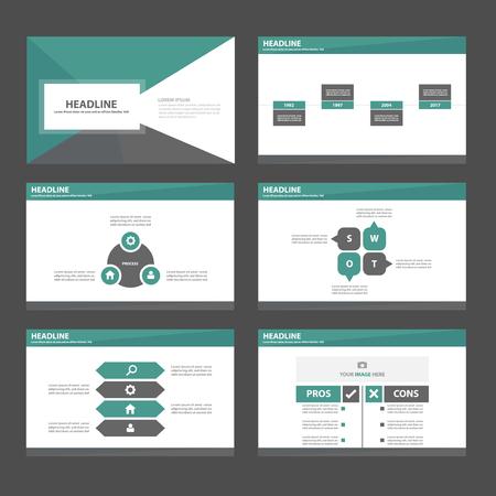 Green blue theme Multipurpose Infographic elements and icon presentation template flat design set for advertising marketing brochure flyer leaflet 矢量图像