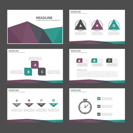Green Purple black Multipurpose Infographic elements and icon presentation template flat design set for advertising marketing brochure flyer leaflet