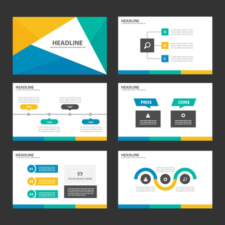 graphic presentation: Yellow Green blue Multipurpose Infographic elements and icon presentation template flat design set for advertising marketing brochure flyer leaflet