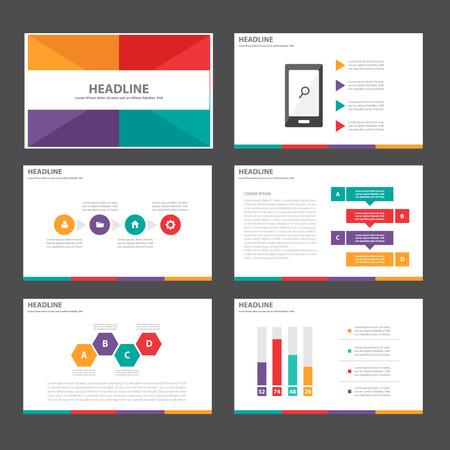 Purple green orange red Multipurpose Infographic elements and icon presentation template flat design set for advertising marketing brochure flyer leaflet Illustration