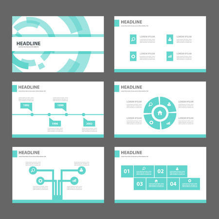 Blauwe technologie Multipurpose Infographic elementen en het pictogram presentatiesjabloon platte ontwerp set voor reclame marketing brochure flyer leaflet Stockfoto - 46174926