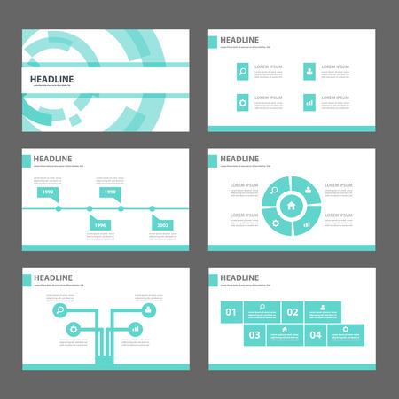 Tecnología azul Multiusos Infografía elementos y icono de presentación plantilla de conjunto de diseño plano para la comercialización publicitaria de viajero folleto folleto Ilustración de vector
