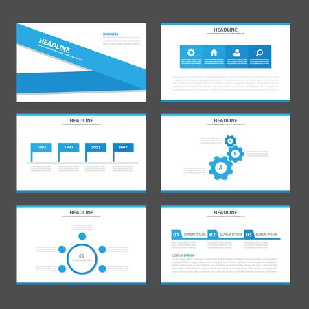 magazine template: Blue label Multipurpose Infographic elements and icon presentation template flat design set for advertising marketing brochure flyer leaflet