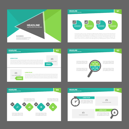 Triangle Green Multipurpose Infographic elements and icon presentation template flat design set for advertising marketing brochure flyer leaflet