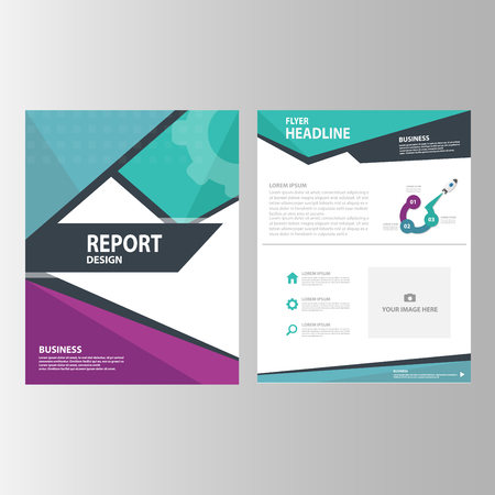 black blue: Abstract Green blue purple Annual report Multipurpose Infographic elements and icon presentation template flat design set for advertising marketing brochure flyer leaflet Illustration