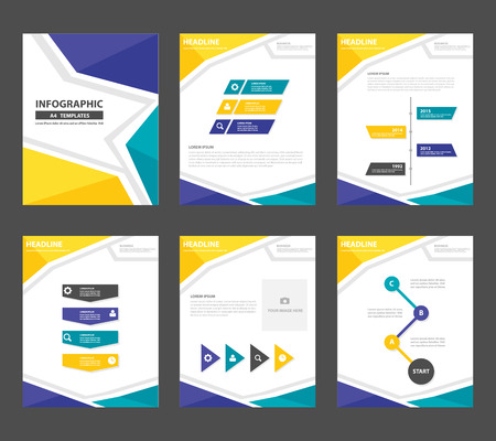 yellow green blue Multipurpose Infographic elements and icon presentation template flat design set for advertising marketing brochure flyer leaflet