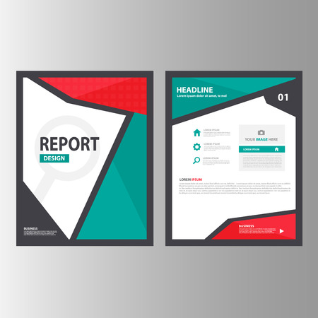 magazine template: Red green black Annual report Multipurpose Infographic elements and icon presentation template flat design set for advertising marketing brochure flyer leaflet Illustration