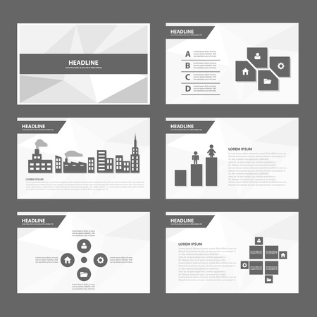 magazine layout: Black White Annual report Multipurpose Infographic elements and icon presentation template flat design set for advertising marketing brochure flyer leaflet