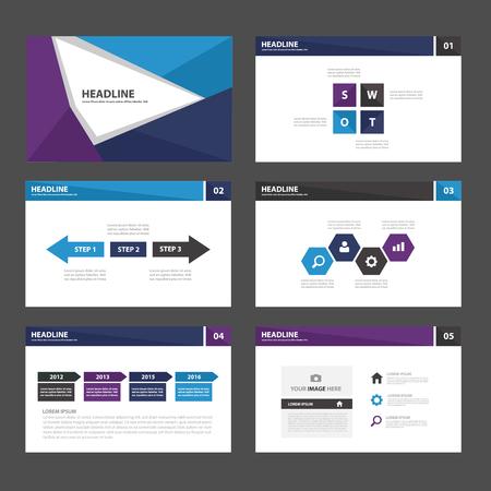 roadmap: Blue Purple Multipurpose Infographic elements and icon presentation template flat design set for advertising marketing brochure flyer leaflet