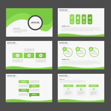 magazine design: Leaf Green Multipurpose Infographic elements and icon presentation template flat design set for advertising marketing brochure flyer leaflet