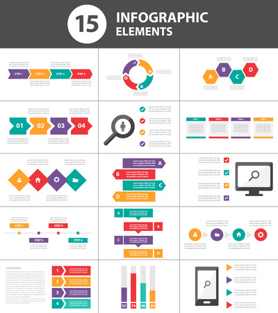 progress: Multicolor Multipurpose Infographic elements and icon presentation template flat design set for advertising marketing brochure flyer leaflet