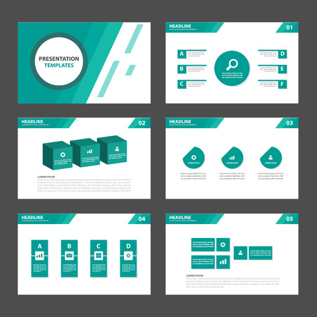 Green line Multipurpose Infographic elements and icon presentation template flat design set for advertising marketing brochure flyer leaflet