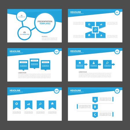 presentations: Blue Multipurpose Infographic elements and icon presentation template flat design set for advertising marketing brochure flyer leaflet