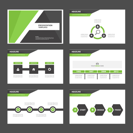 template: Green Black Multipurpose Infographic elements and icon presentation template flat design set for advertising marketing brochure flyer leaflet