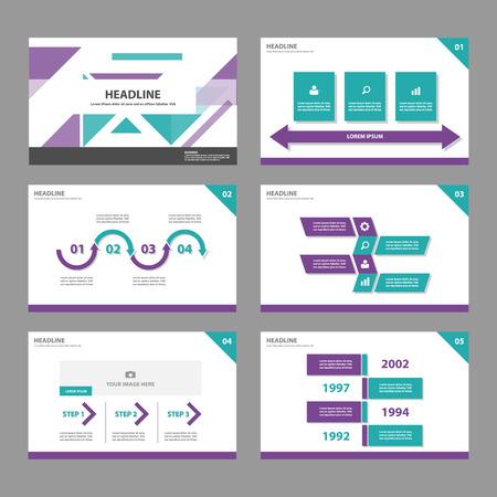roadmap: Purple green Multipurpose Infographic elements and icon presentation template flat design set for advertising marketing brochure flyer leaflet Illustration
