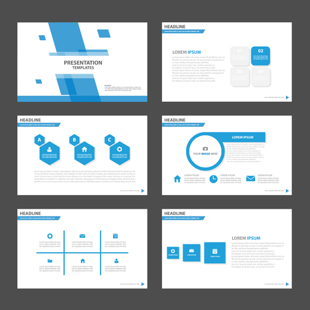 Blue Polygon Multipurpose Infographic elements and icon presentation template flat design set for advertising marketing brochure flyer leaflet