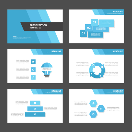 Blue Polygon 3 Multipurpose Infographic elements and icon presentation template flat design set for advertising marketing brochure flyer leaflet