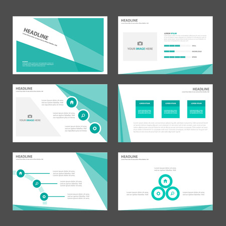 roadmap: Green Multipurpose Infographic elements and icon presentation template flat design set