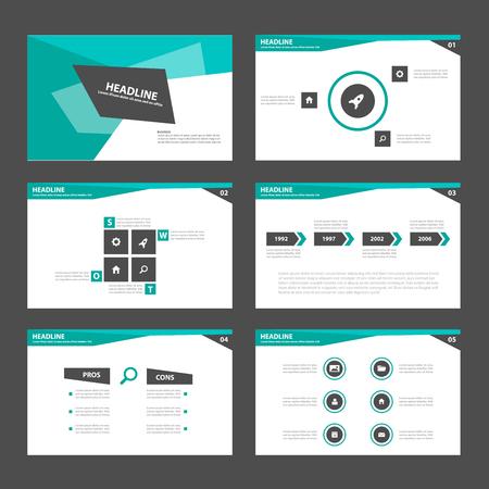 magazine layout: green Black business Multipurpose Infographic elements and icon presentation template flat design set for advertising marketing brochure flyer leaflet Illustration