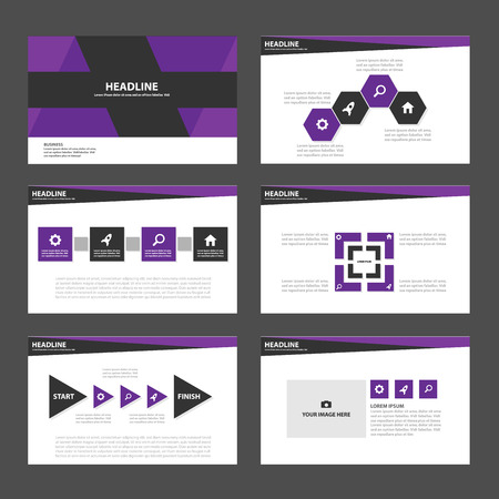 roadmap: Purple and black business Multipurpose Infographic elements and icon presentation template flat design set for advertising marketing brochure flyer leaflet