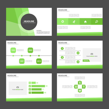 presentation: Green business Multipurpose Infographic elements and icon presentation template flat design set for advertising marketing brochure flyer leaflet