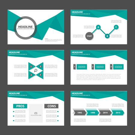graph paper: Green and black Infographic elements presentation templates business Multipurpose and icon  flat design set for advertising marketing brochure flyer leaflet