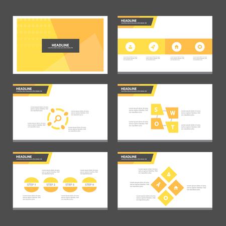 magazine: Abstract orange presentation template Infographic elements flat design set for brochure flyer leaflet marketing advertising