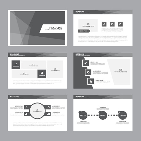 Black white Abstract presentation template Infographic elements flat design set for brochure flyer leaflet marketing advertising