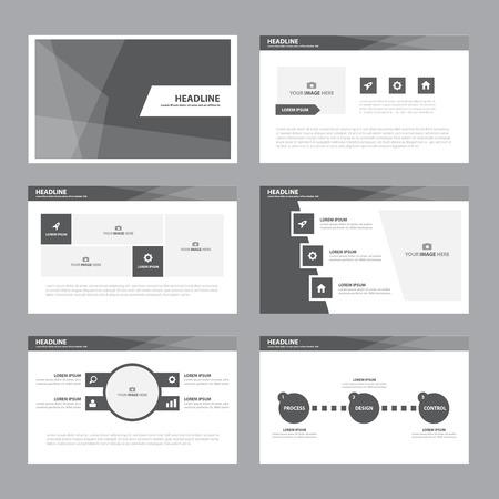 presentation template: Black white Abstract presentation template Infographic elements flat design set for brochure flyer leaflet marketing advertising