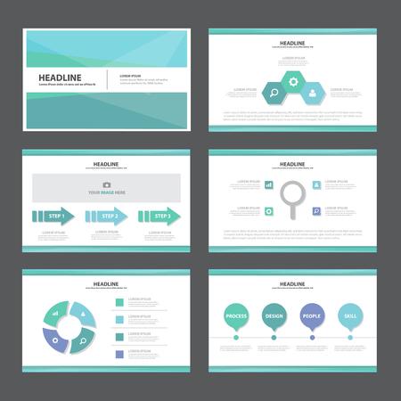 sjabloon: Blauwe Abstracte presentatiesjabloon Infographic elementen platte ontwerp set voor brochure flyer folder marketing reclame