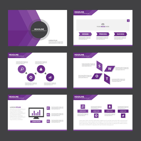 keynote: Purple Abstract presentation template Infographic elements flat design set for brochure flyer leaflet marketing advertising
