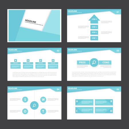 keynote: Blue Abstract presentation template Infographic elements flat design set for brochure flyer leaflet marketing advertising