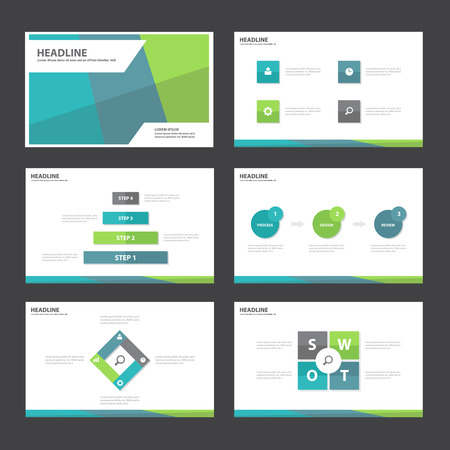 magazine template: Blue green Abstract presentation template Infographic elements flat design set for brochure flyer leaflet marketing advertising