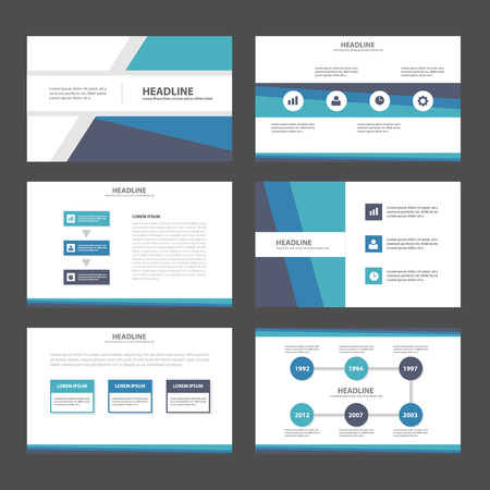 magazine template: Blue green purple polygon Abstract Polygon presentation template Infographic elements flat design set for brochure flyer leaflet marketing advertising