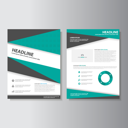flyer background: Green and Black brochure flyer leaflet presentation templates Infographic elements flat design set for marketing advertising