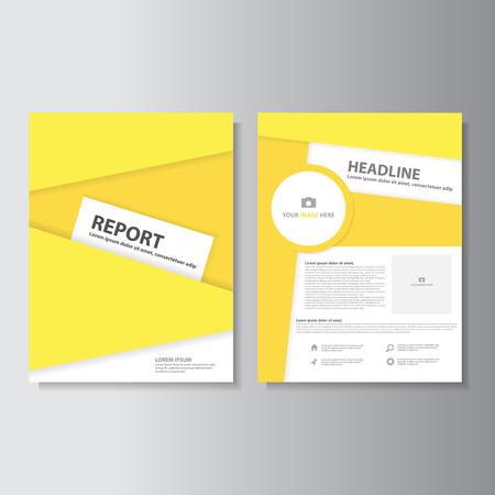 powerpoint: Yellow brochure flyer leaflet presentation templates Infographic elements flat design set for marketing advertising