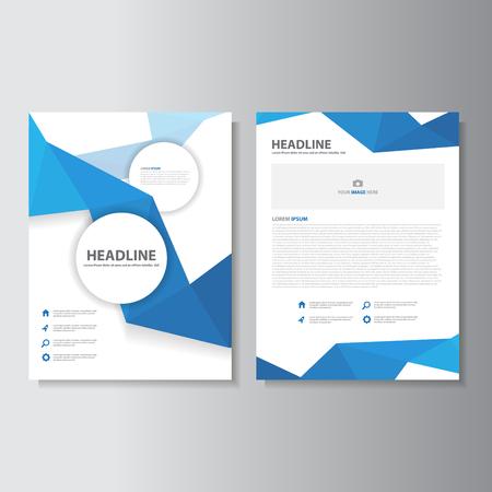roadmap: Blue brochure flyer leaflet presentation templates Infographic elements flat design set for marketing advertising