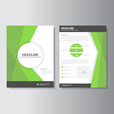 advertising design: Green brochure flyer leaflet presentation templates Infographic elements flat design set for marketing advertising
