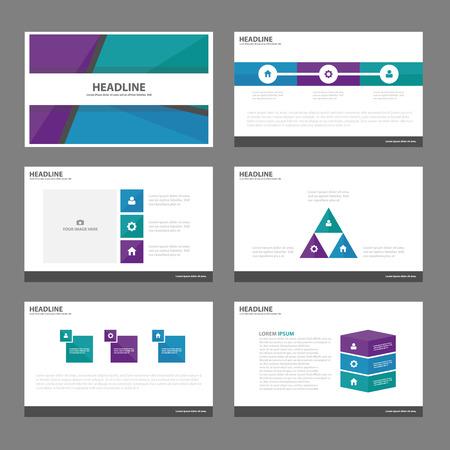 roadmap: Blue Green purple Infographic elements presentation template flat design set for brochure leaflet