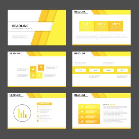 presentation icon: Black white Infographic elements presentation template flat design set for brochure leaflet Illustration