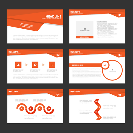magazine template: Red presentation templates Infographic elements.