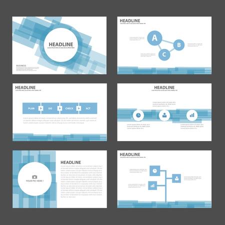 sjabloon: Abstracte Blauwe presentatiesjablonen Infographic elementen plat ontwerp vastgesteld voor brochure flyer folder marketing reclame