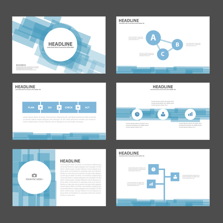 Abstract Blue presentation templates Infographic elements flat design set for brochure flyer leaflet marketing advertising