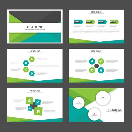 roadmap: Green black presentation templates Infographic elements flat design set for brochure flyer leaflet marketing advertising