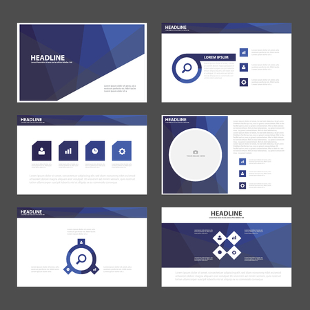 Purple polygon presentation templates Infographic elements flat design set for brochure flyer leaflet marketing advertising