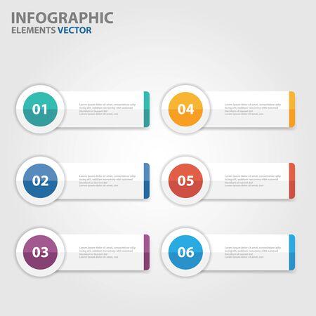 roadmap: Colorful Banner Infographic elements presentation templates flat design set Illustration