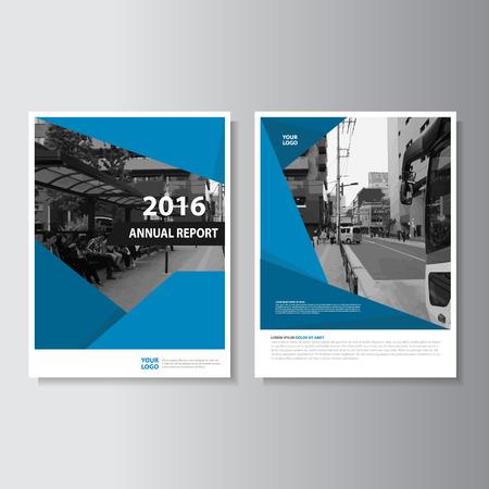 informe: Vector Folleto Folleto folleto diseño de plantilla de tamaño A4, diseño anual de diseño de la portada libro de informes, plantillas de presentación abstracta azul Vectores