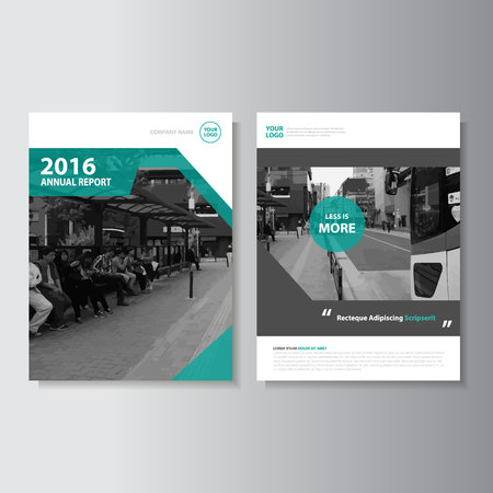 cover: Vector Leaflet Brochure Flyer template A4 size design, annual report book cover layout design, Abstract green presentation templates