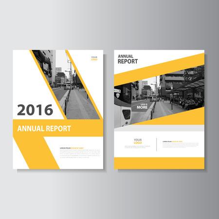 Vector Dépliant Brochure Flyer design taille modèle A4, rapport annuel conception couverture du livre de mise en page, Résumé des modèles de présentation vert