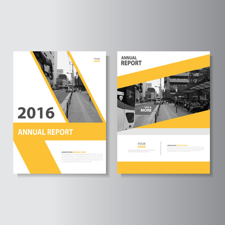 annual report: Vector Leaflet Brochure Flyer template A4 size design, annual report book cover layout design, Abstract green presentation templates
